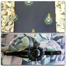 Royal Marines (Crest) Tie & Tie Bar Set With ROYAL MARINE Tie Bar (dark) RM