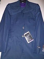 $1.6 NWT PAUL SMITH solid Navy blue 36 46 R BYARD notch lapel wool silk suit