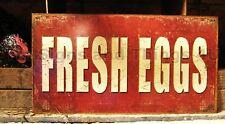 Fresh Eggs Tin Sign metal wall decor home farm vtg rustic country primitive 1807