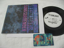 By Sunlight Sung Surrender Seattle w/ download card punk rock 45 Record 7""