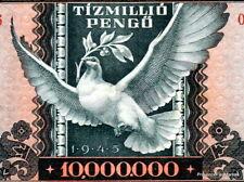 Un billet de banque HONGRIE circulé  10 MILLION de  Pengo 1945 WW2   Pick123