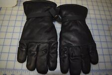 GENUINE US MILITARY INTERMEDIATE COLD/WET GLOVES BLACK LEATHER INSULATED SIZE M