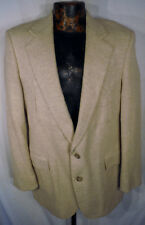 LEVIS WESTERN WEAR 2 button Cream TWEED Wool Mens Blazer Coat Suit Jacket 40