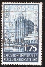 TIMBRE BELGIQUE / BELGIUM 1934 1fr75 Bleu Expo Universelle 1935