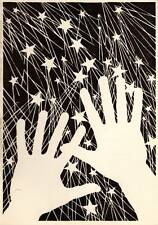 Original Don Blanding Art Deco Vintage Print 1953 Fireworks