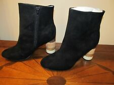 FARYL ROBIN Black Boots shoes round heels, 8.5 size NEW