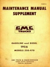 Gmc Trucks Maintenance Manual Supplement 1956 Used
