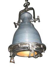 Preziosa Lampada Da Soffitto Design Industriale 22cm Diametro Azzurro/Piombo