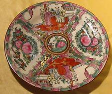 Belle assiette en porcelaine asiatique décor japonisant