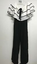 Black & White Off Shoulder/ruffles Women Jumpsuit/Dress Pants Size Small