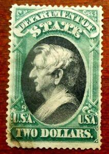 Buffalo Stamps:  Scott #O68, $2 State Dept, Mint NG & F/VF, CV = $1,875 as OG.