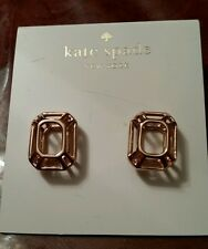 Kate Spade Rose Gold Tone Freeze Frame earrings NEW