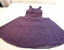 DAVID'S BRIDAL SIZE 4 SLEEVELESS  PURPLE DRESS. MOTHER OF THE BRIDE OR GROOM