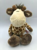 Small NICI Giraffe Plush Kids Soft Stuffed Toy Animal Doll Wild Brown Teddy Bear