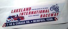Lakeland international raceway bumper sticker hot rod vintage look nostalgia