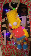 "BART SIMPSON  "" UGLY "" Tacky Christmas sweater X-LARGE L@@K LIGHTS MENS"