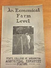 1923 ECONOMICAL FARM LEVEL ORIGINAL DETAILED BROCHURE SURVEYOR