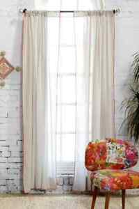 """NEW URBAN OUTFITTERS PLUM AND BOW CONTRAST SCALLOP CURTAIN 52"""" X 96"""""""