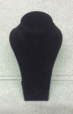 Miniature Jewellery Display Upright Bust (Black Suede)