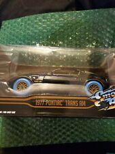 "Chase 1977 PONTIAC TRANS AM ""SMOKEY AND THE BANDIT"" 1/24 GREENLIGHT blue tires"