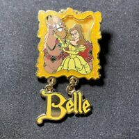 Disney Pin Gold Card Princesses and Horses Belle Philippe Beauty Beast Pin 62262