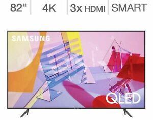 """Samsung 82"""" Class Q6DT Series 4K UHD Ultra HD Smart QLED LCD TV QN82Q6DTAFXZA"""
