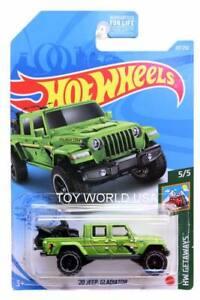 2021 Hot Wheels #117 HW Getaways '20 Jeep Gladiator Green
