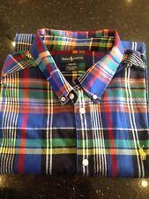 Ralph Lauren Men's Check Cotton Blend Long Sleeve Casual Shirts & Tops