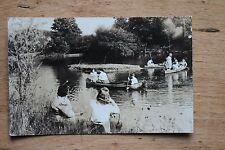 1946 Stroudsburg Pennsylvania Children Boating Lake Real Photo Postcard RPPC PA