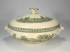 "WEDGWOOD "" Lugano vert "" BOL & couvercle"