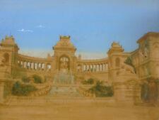 Photographie XIXème aquarelle et gouache Marseille Palais Longchamp Marsiglia