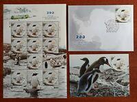 2020 Ukraine Antarctica Penguins Birds MNH**  full sheet + FDC + maximum card