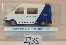Rietze 1/87 Nr. 50548 Ford Transit Halbbus Policia Local Spanien OVP #2735