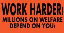 Work Harder - Hard Hat Sticker