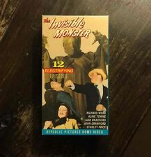 Sci Fi Action Thriller THE INVISIBLE MONSTER B&W VHS 2 Tape Set 12 Part Series