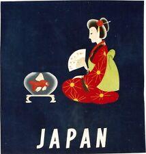 Original vintage poster JAPAN GEISHA GOLD FISH BOWL c.1950