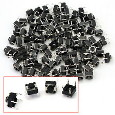 100x Pulsante Momentaneo Tattile Interruttore SWITCH DIP 4pin 4 Contatti 6x6x5mm