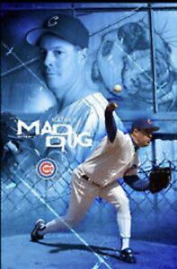 VTG Sealed Unopened Greg Maddux Mad Dog 22x34 POSTER 2004 Chicago Cubs