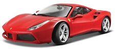 1:24 Scale Ferrari 488 GTB Diecast Car Model Die Cast Cars Models Miniature