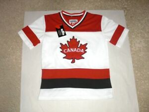 CANADA sewn short sleeve Hockey Jersey youth Small NEW WITH TAGS