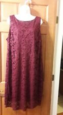 Plus Size Chaps Lace Shift Dress Size 20W - Maroon