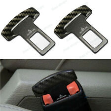2Pcs Seat Belt Buckle Alarm Safety Clasp Stop Canceller Null Insert For Audi