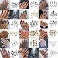 Gold Silver Midi Finger Ring Set Vintage Punk Boho Knuckle Rings Women Jewelry