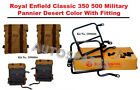 Royal Enfield Classic 350 500 Military Pannier Desert Color With Fitting Frame