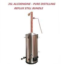 35L/240V/3500W  AlcoEngine Reflux Still Kit Make 70% Alcohol/Ethanol Sanitizer