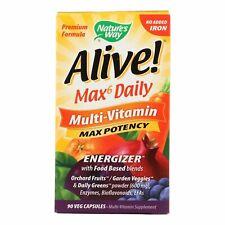 Nature's Way - Alive! Max6 Daily Multi-Vitamin - Max Potency - No Iron Added - 9