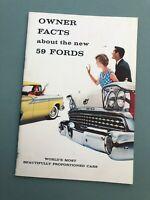 Vintage 1959 Ford Fairlane Skyliner 500 Galaxie New Car Manual book Owners Facts