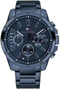 Tommy Hilfiger Men's Blue Dial  Watch 1791560 RRP £179