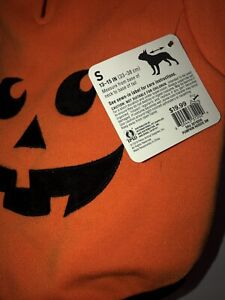 Petco Bootique Jack O'Lantern/ Pumpkin Hoodie For Dog Costume Halloween- Small
