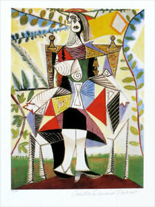 Pablo Picasso Girl With Dress Limited Edition Giclee Estate Signed 20x13